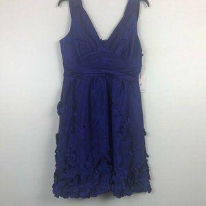 Calvin Klein 8 Blue Halter Mini Dress NWT BX66